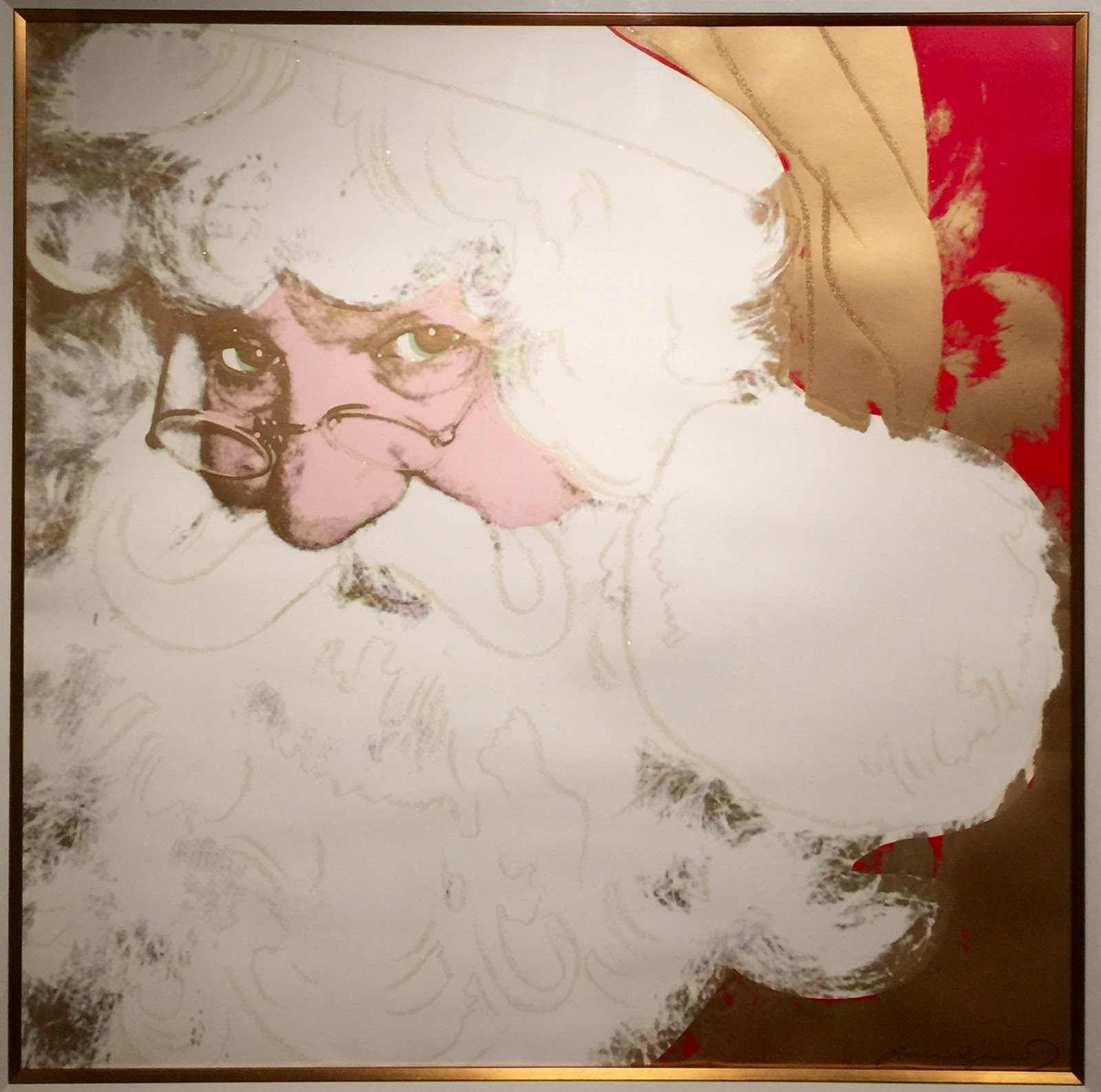 Modern contemporary art collection santa claus from myths santa claus from myths 1981 screenprint with diamond dust by andy warhol jeuxipadfo Choice Image