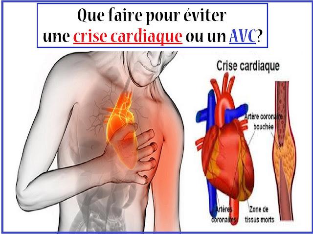 Que faire pour éviter une crise cardiaque ou un AVC?