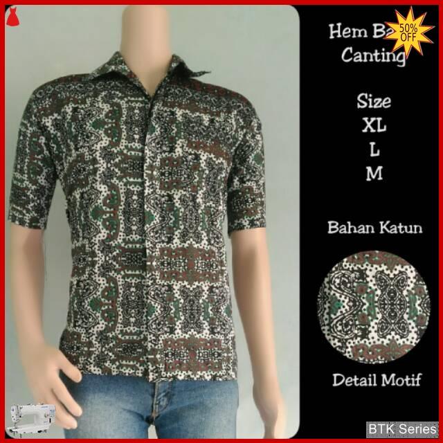 Grosir Hem Batik Murah: BTK156 Baju Hem Canting Batik Modis Murah BMGShop