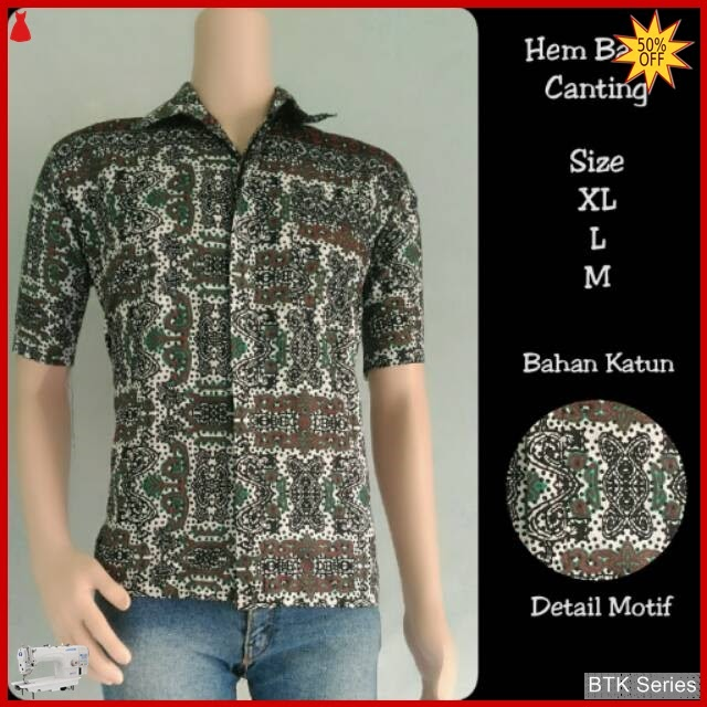 BTK156 Baju Hem Canting Batik Modis Murah BMGShop