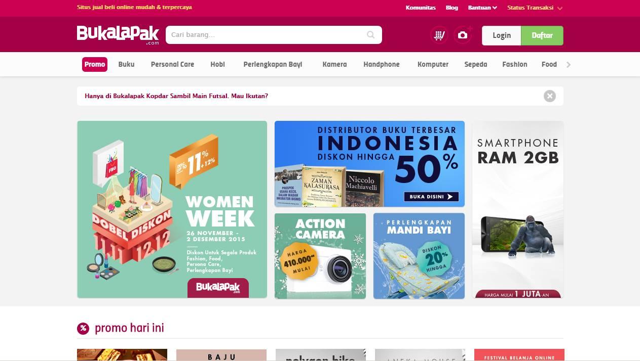 Tampilan Bukalapak.com
