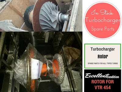 VTR 454 Rotor for Turbocharger, spare parts for Turbocharger, Turbo, bearing, shell, casing