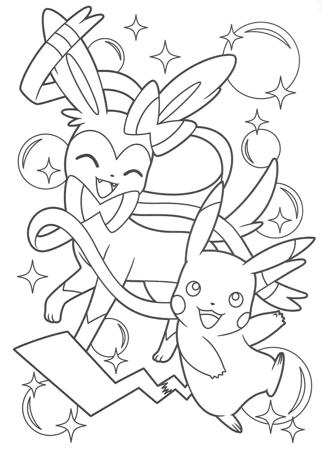Desenhos para Colorir - Pikachu and Eevee Friends Oficial ...