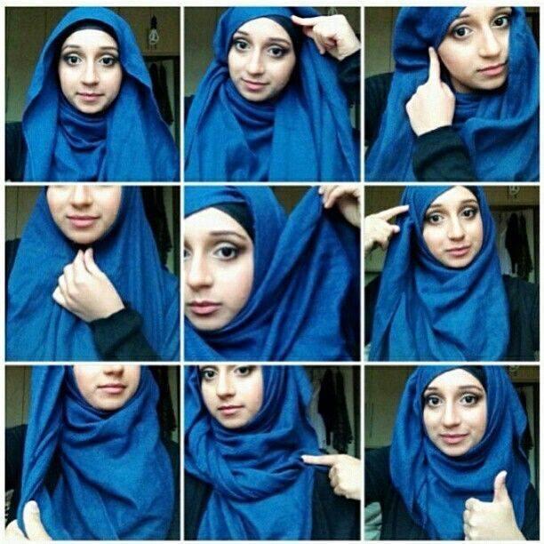 tutorial hijab pashmina arabian