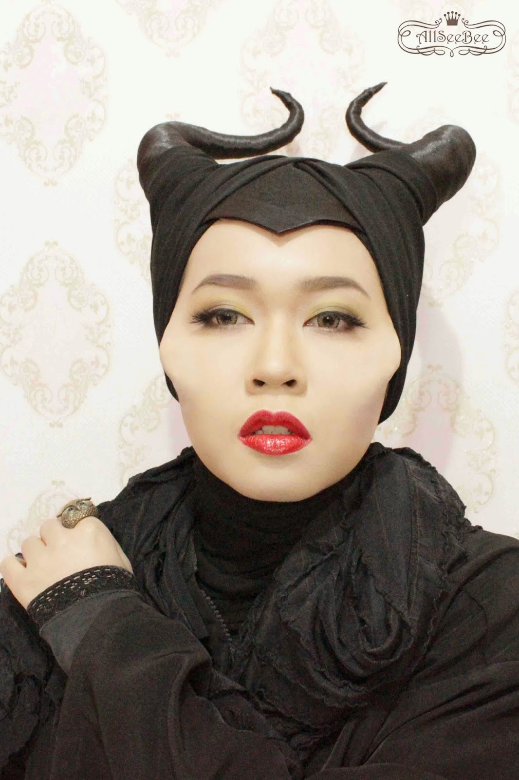 Angelina Jolie's Disney Maleficent Makeup + Maleficent's Horns
