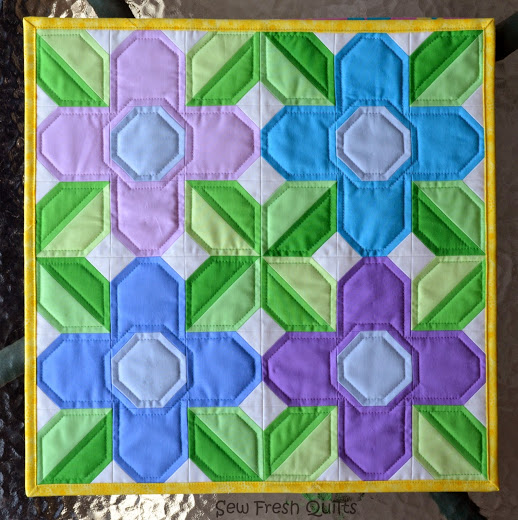 Pretty Posy Quilt Block Free Tutorial
