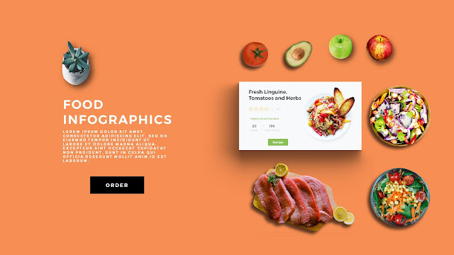 Food Infographic Scene Creator in Free PowerPoint Template Slide 4