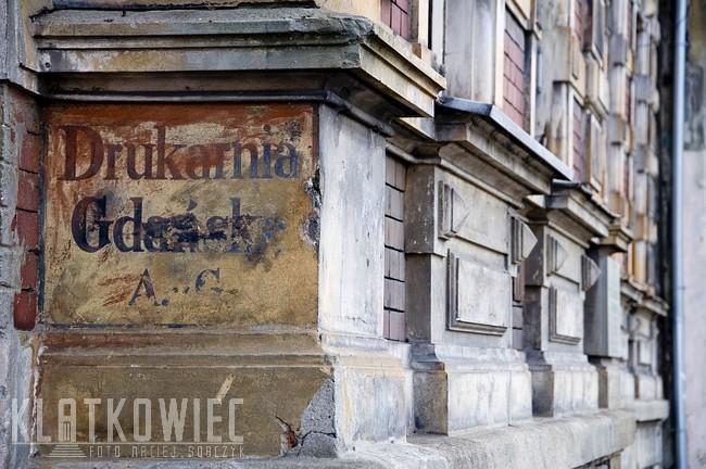 Gdańsk. Przedwojenna reklama. Drukarnia Gdańska A.G.