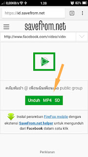 Mendownload video menggunakan website di savefrom