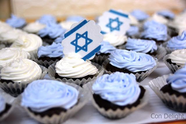 קאפקייקס ליום העצמאות independence day cupcakes