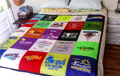 sewing with polyester athletic shirts in a t-shirt quilt, diy, via refabulous