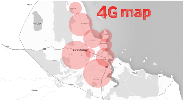 4G Network Areas Across Dar es Salaam
