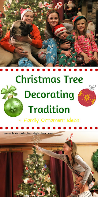 Christmas Tree Decorating Tradition + Ideas for Family Christmas Tree Decorating and Ornaments #Christmas #Traditions #Kids #Momblogger