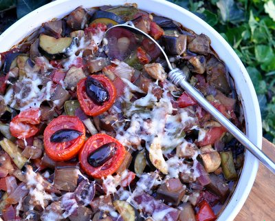 Ratatouille, my simpler & lighter version of the French classic ♥ KitchenParade.com. Easily Vegan. Low Carb. Weight Watchers Friendly. Great for Meal Prep. Naturally Gluten Free.