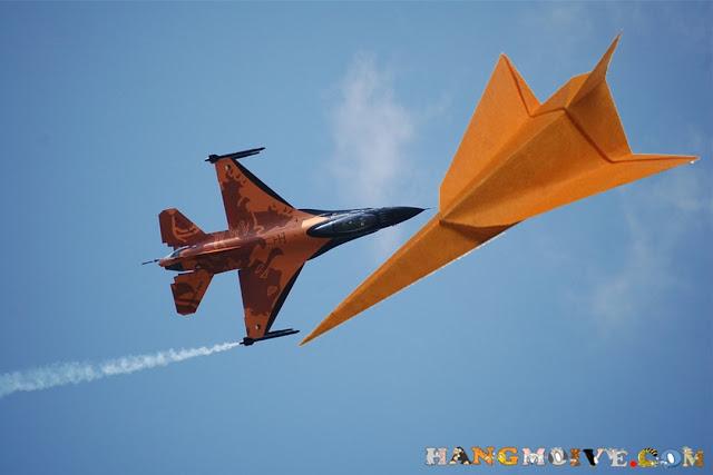 Cách gấp, xếp máy bay chiến đấu Jet bằng giấy - How to make an origami Jet fighter
