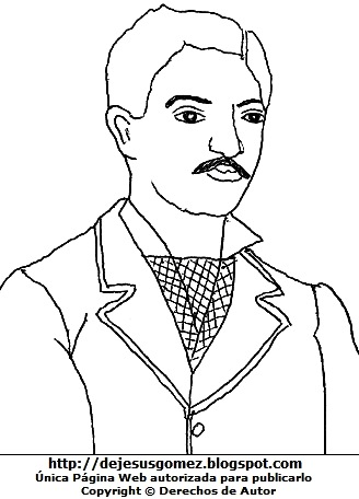 Dibujo de Daniel Alcides Carrión para dibujar y colorear pintar imprimir. Dibujo de Daniel Alcides Carrión de Jesus Gómez