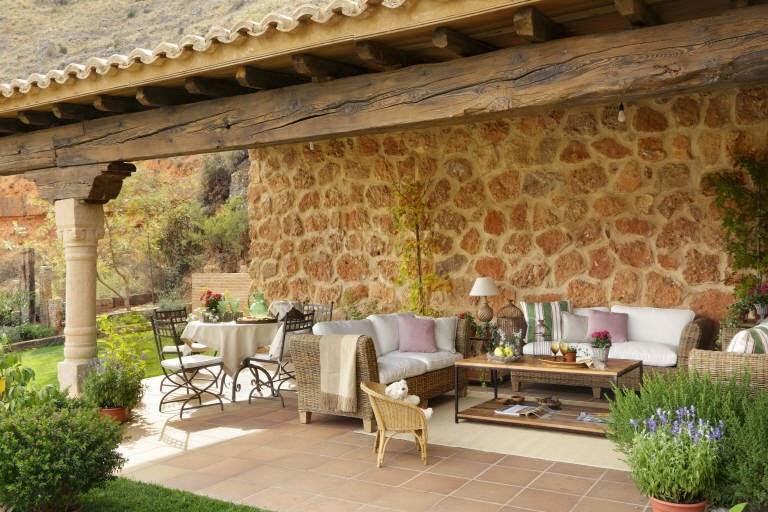 Detalhes do c u uma bela casa de campo r stica - Casas rusticas de campo ...