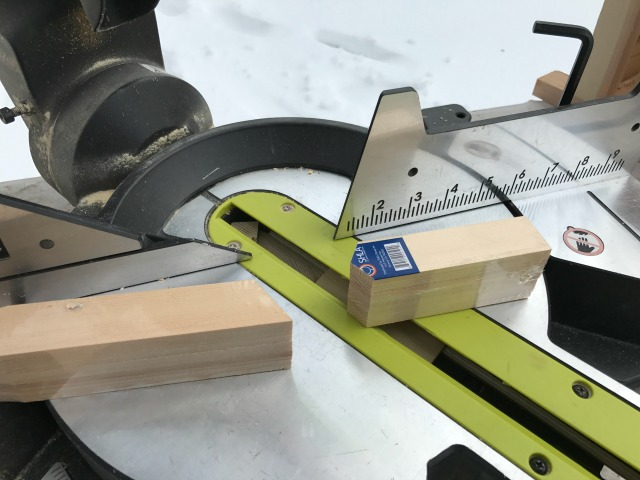 cutting fence pickets on miter saw