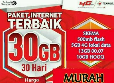 Cara Membuat Paket Internet 30GB Telkomsel Combo, Harga 65.000