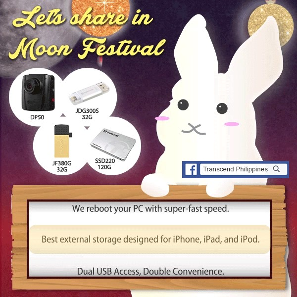 Transcend Let's Share in Moon Festival Giveaway Event