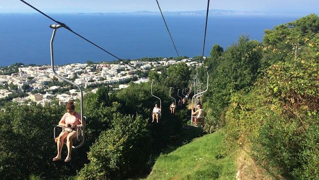 Mount Solaro na Ilha de Capri