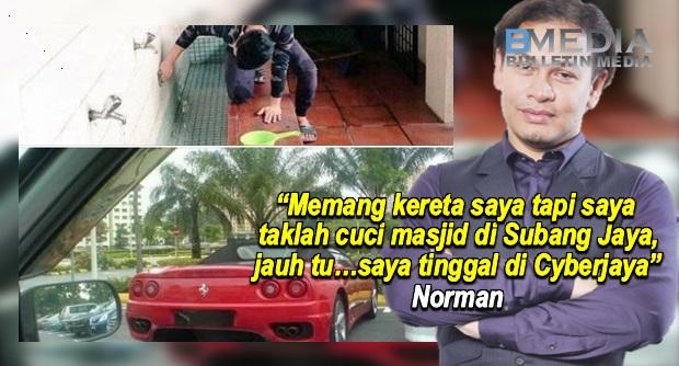 Viral Lelaki 'Kaya' Cuci Masjid, Pemilik Kereta Ferrari Buka Mulut