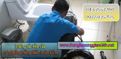 Thông tắc bồn cầu tài phường hàng bài,thông tắc cống,chậu rửa,hút bể phốt giá rẻ 0979.266.769