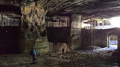 Underneath Ragusa Superiore. A large cavern that was once a quarry.