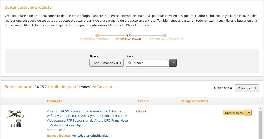 amazon afiliado y blogger tsa