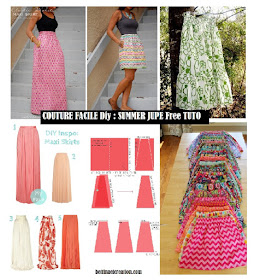 Bettinael passion couture made in france couture facile diy summer jupe free tuto - Tuto facile france ...