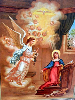 Resultado de imagem para anjo gabriel a maria