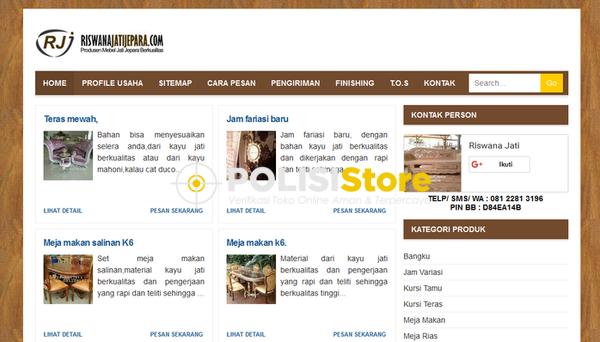 Riswana Jati Jepara - Verifikasi Toko Online Aman dan Terpercaya - Polisi Store