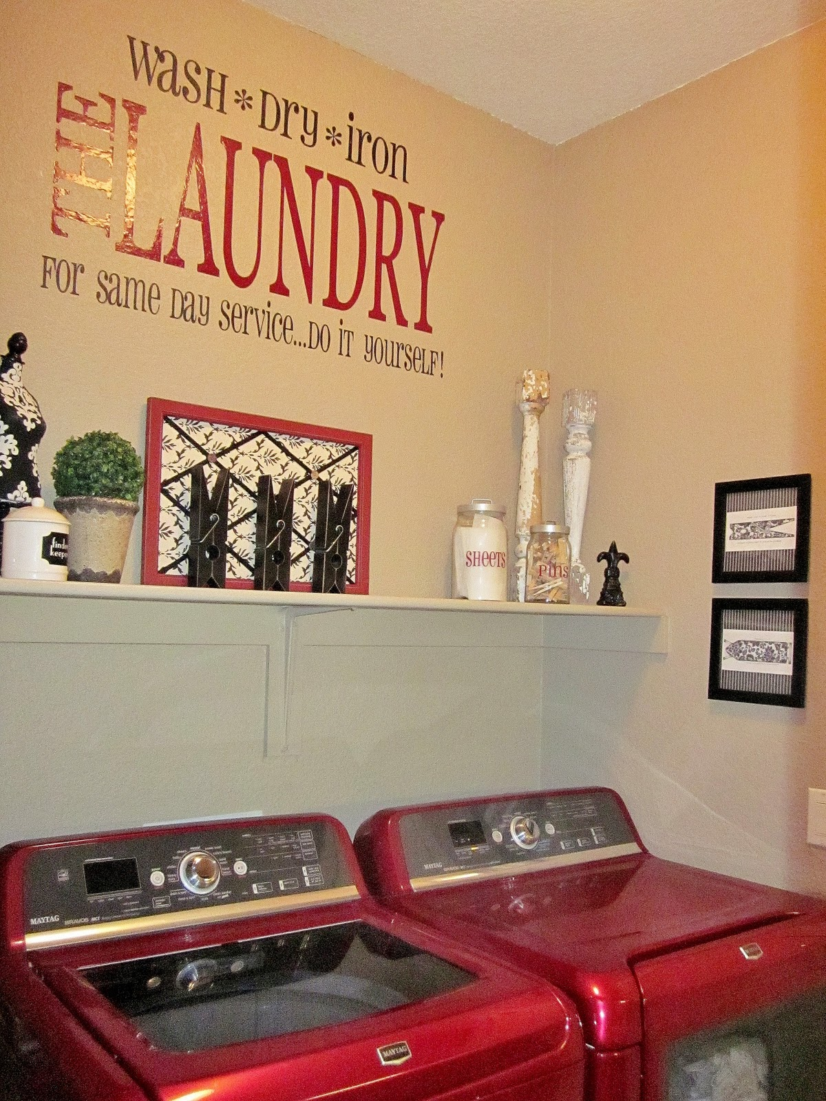 Adorable Antics: Laundry Room Decorations (on NO budget) on Laundry Decoration  id=23439