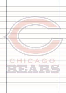 Papel Pautado Chicago Bears PDF para imprimir na folha A4