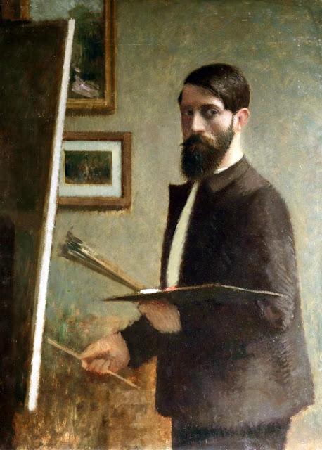 Gustave Poetzsch, Self Portrait, Portraits of Painters, Fine arts, Portraits of painters blog, Paintings of Gustave Poetzsch, Painter Gustave Poetzsch