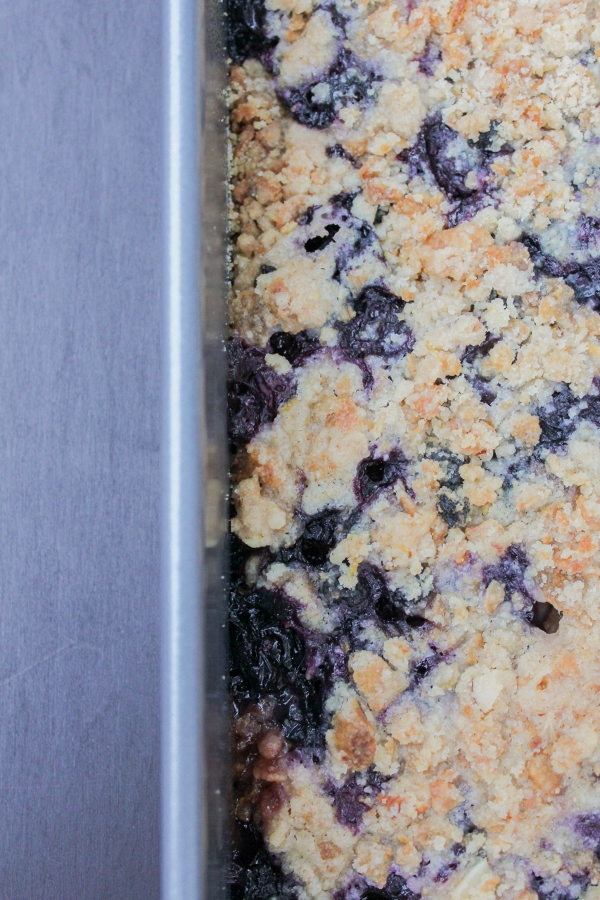 These Blueberry Crumble Bars are sweet, buttery, and loaded with berries!