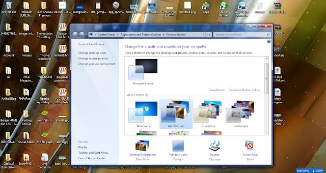 Cara mudah mengganti Background di Windows 7