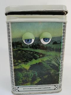 Heidididit - polymeerimassa-askarteluohje. Silmät purkissa.