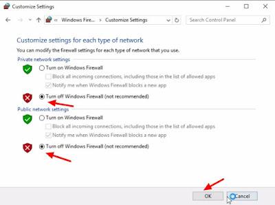 cara mematikan firewall windows 7 8 10
