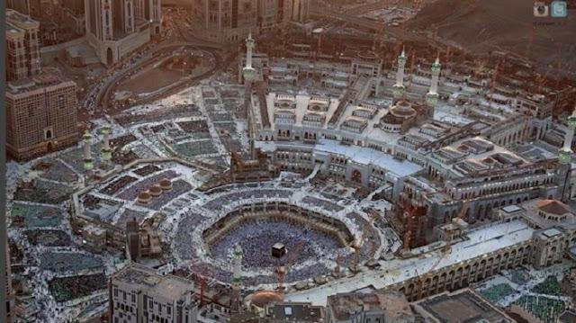 Subhanallah, Video Viral Pemandangan Kawasan Masjidil Haram dari Atas Bikin Merinding