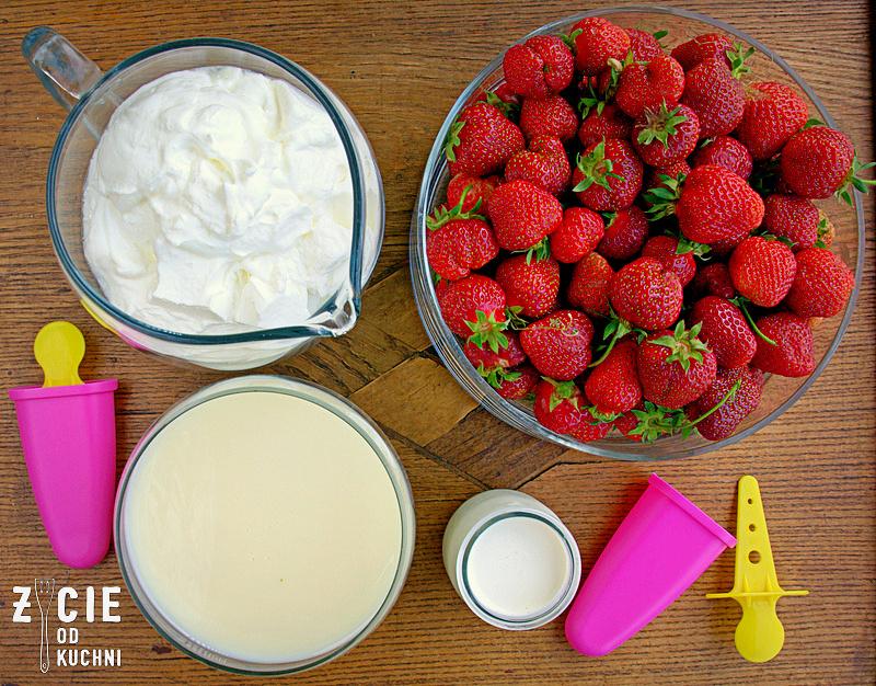jak zrobic domowe lody, lody, lody domowe, truskawki, domowe lody truskawkowe, domowe lody, lodowe desery, przepisy z truskawkami, zycie od kuchni