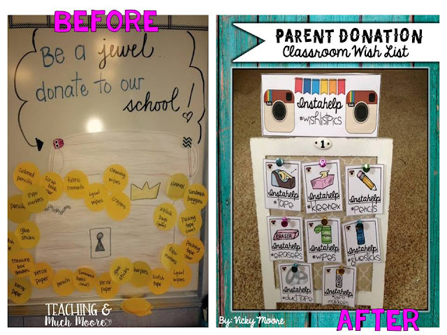 Back to School Parent Donation Wishlist made easy