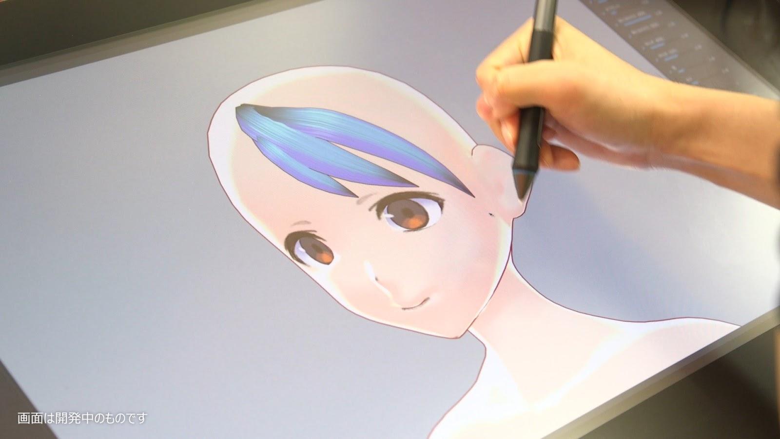 VRoid Studio permite que artistas desenhem modelos 3D na hora