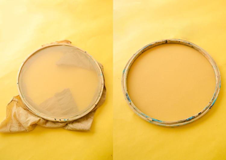 como fazer silk-screen barato: usando meia-calça! | espanta-papão