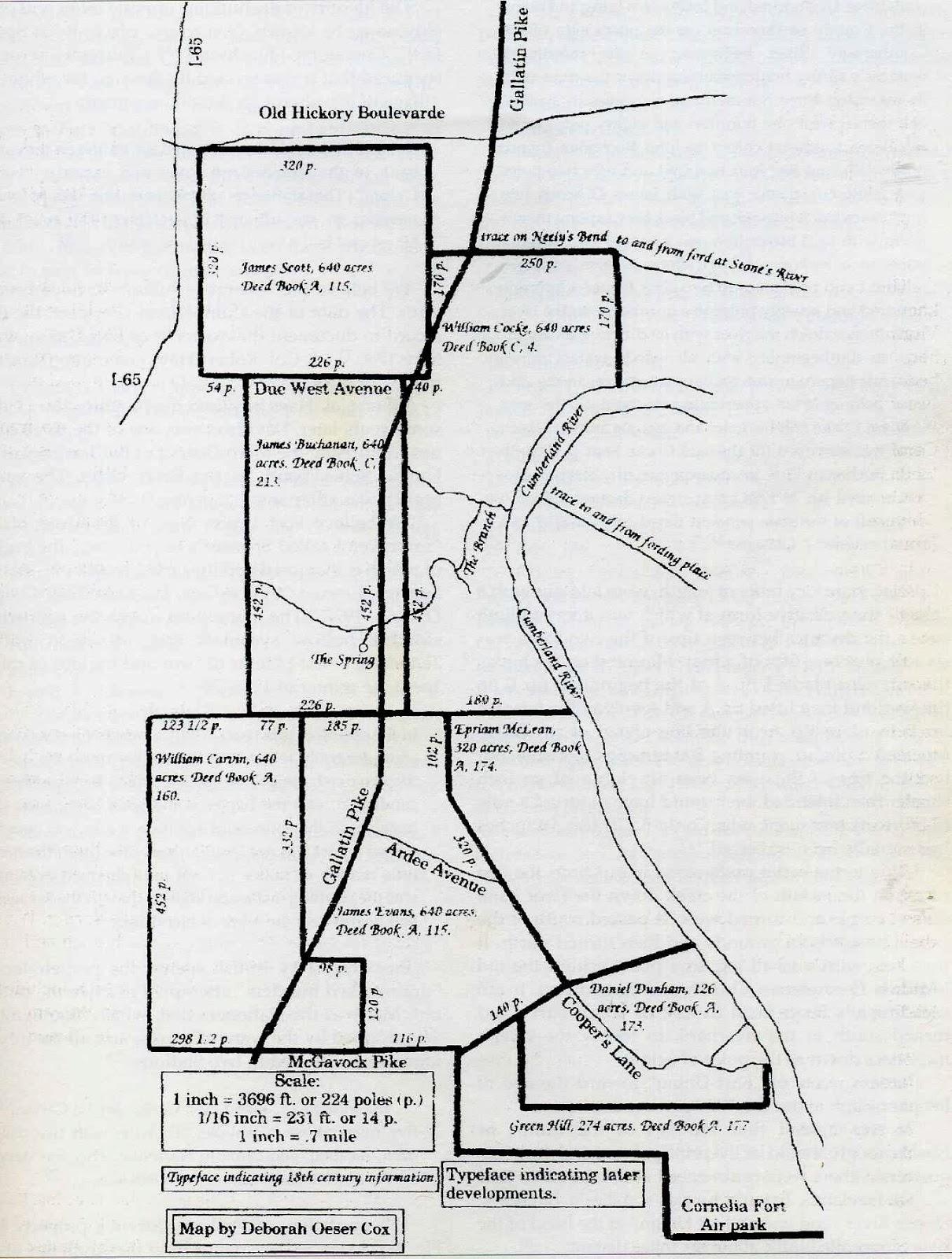Nashville History: Nashville and Davidson County Maps