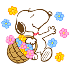 Super Spring Snoopy Animated Stickers