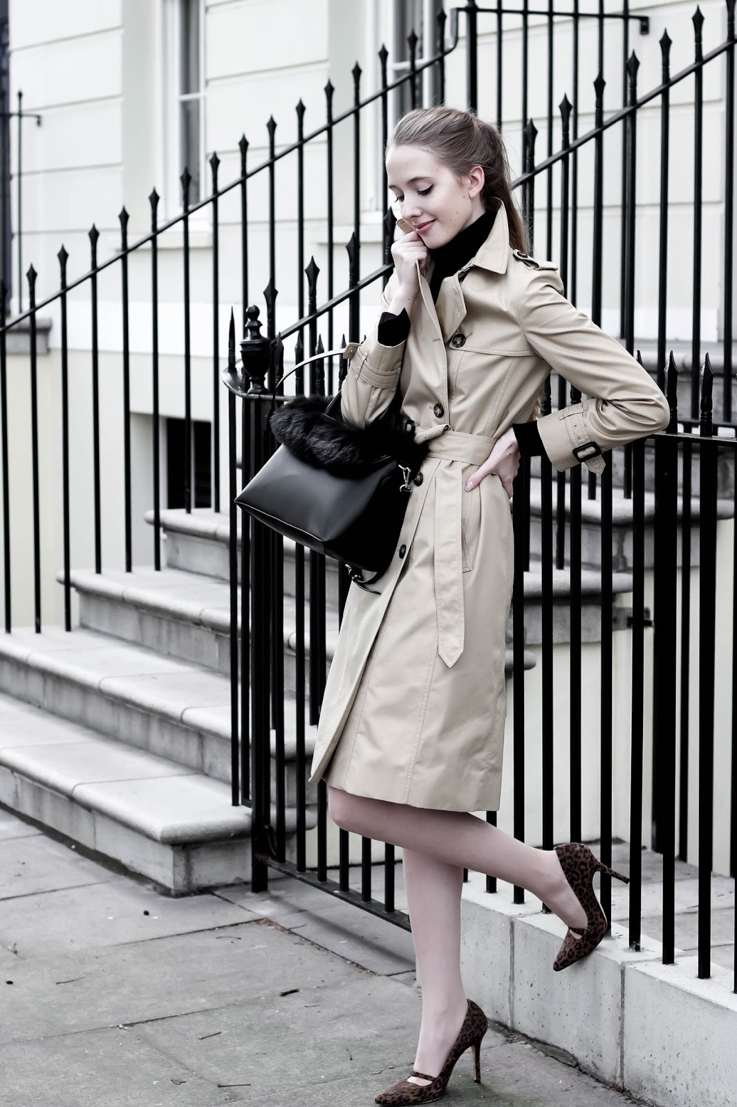 Chic Trench Coat Workwear Styling London Blogger