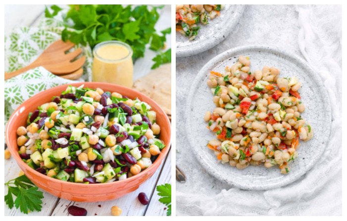 Photo of Kidney Bean Salad with Lemon & Parsley and Herbed White Bean Picnic Salad