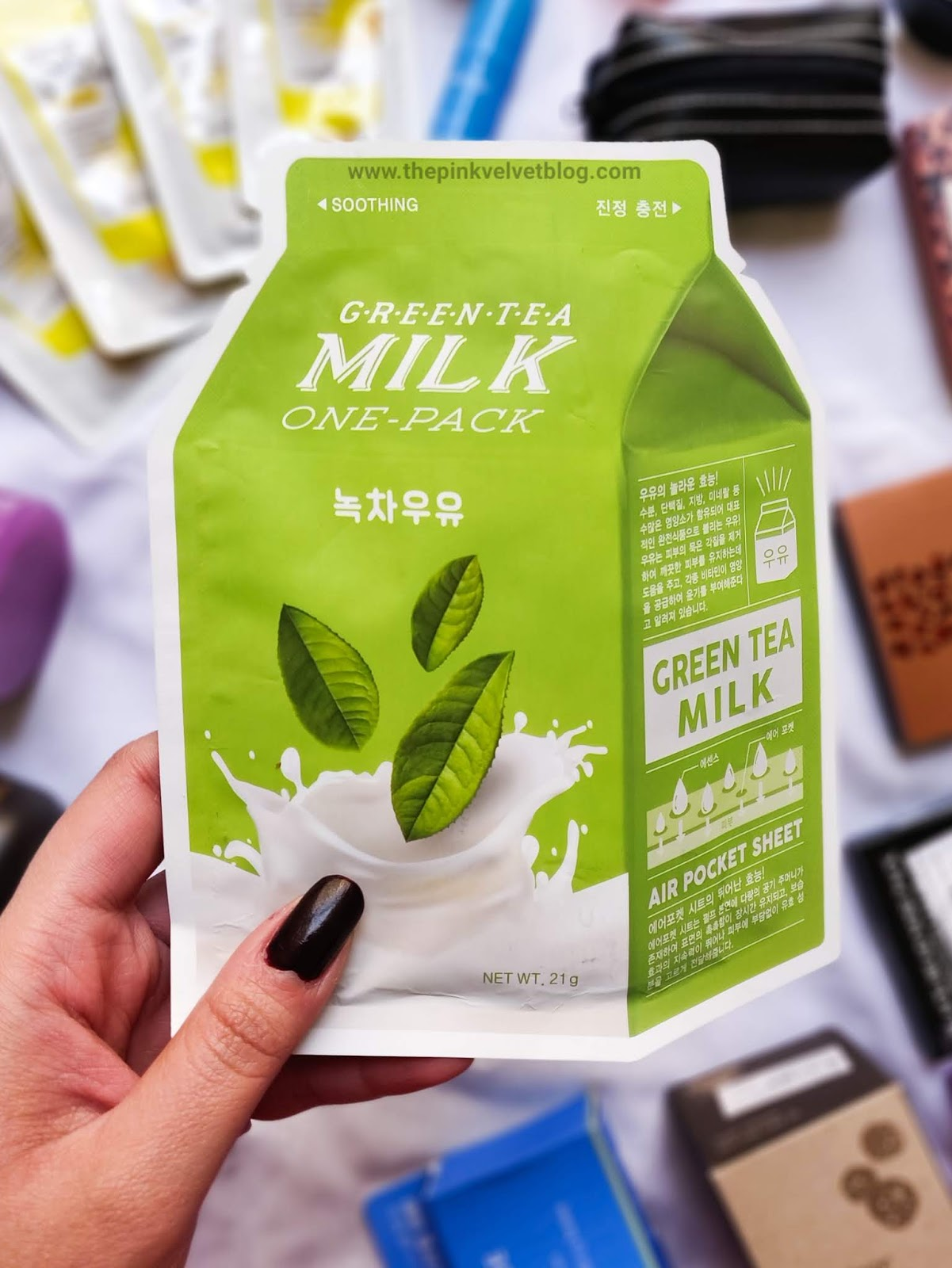 YesStyle Shopping Haul and Experience | YesStyle Shopping Haul and Experience | Korean Beauty Cosmetics from YesStyle - Green Tea Milk One Sheet Mask