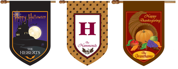 Monogrammed House Flags, Personalized House Flags